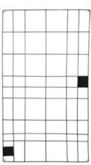 VTwonen - Memobord met draad - Zwart - 60x105 cm