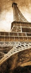 Fotobehangart Deursticker Muursticker Eiffeltoren, Parijs | Sepia | 91x211cm