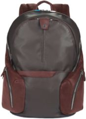 Coleos Rucksack Leder 42,5 cm Laptopfach Piquadro dark brown
