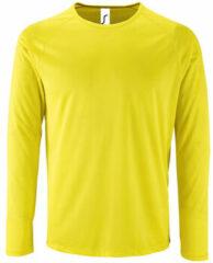 Gele T-Shirt Lange Mouw Sols SPORT LSL MEN
