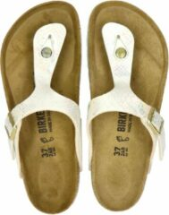 Creme witte Birkenstock Gizeh - Sportieve slippers - Dames - Shiny Snake Cream - 41