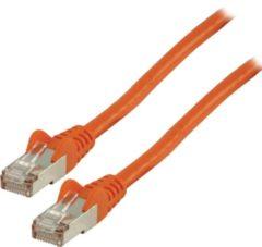 Valueline FTP CAT 6 netwerk kabel 0,25 m oranje