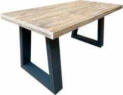 Bruine Wood4you Bureau Vancouver steigerhout 150Lx72Dx75H