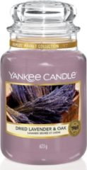 Paarse Yankee Candle Large Jar Geurkaars - Dried Lavender & Oak