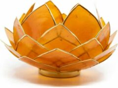 Spiru Lotus Sfeerlicht Oranje Goudrand Groot