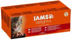 Iams Delights Land & Sea Collection Jelly - Kat - Natvoer - 48 x 85 gr