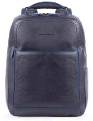 "Blauwe Piquadro Blue Square Fast Check Computer Backpack with iPad 10.5"" night blue backpack"