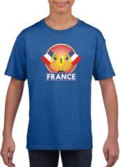 Shoppartners Blauw Frans kampioen t-shirt kinderen - Frankrijk supporter shirt jongens en meisjes L (146-152)