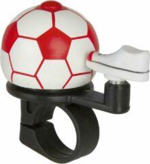 M-wave Fietsbel Mini Voetbal Wit Rood