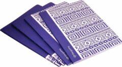 Pergamy Ethnic Schrift, Ft A4, Geruit 5 Mm, 48 Bladzijden, Blauw