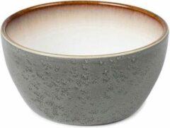 Bitz - Kom keramiek grijs / crème - Diameter 12 cm - Hoogte 6 cm