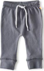 Donkergrijze Little Label - baby - broekje - antraciet - maat 50 - bio-katoen