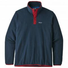 Patagonia - Micro D Snap-T Pullover - Fleecetrui maat L, blauw/zwart