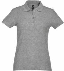 Grijze Polo Shirt Korte Mouw Sols PASSION WOMEN COLORS