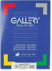 Gallery witte etiketten ft 48,3 x 16,9 mm (b x h), ronde hoeken, doos van 6.400 etiketten