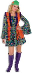 Oranje Fashion4fun Hippie Kostuum | Hippie Summer Of Love | Vrouw | Maat 44 | Carnaval kostuum | Verkleedkleding