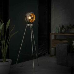 LifestyleFurn Industriële Vloerlamp 'Annabella' kleur oud zilver