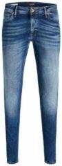 Blauwe JACK & JONES JEANS INTELLIGENCE super skinny jeans Tom blue denim