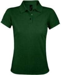 Groene Polo Shirt Korte Mouw Sols PRIME ELEGANT WOMEN