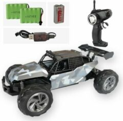 Gesloten All-Terrain RC auto camo grijs + EXTRA ACCU - 2,4Ghz bestuurbare auto - Schaal: 1:14 - 30.5x18,5x12,5cm