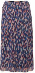 Street One semi-transparante midi rok met all over print en mesh blauw