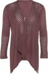 Donkerrode Knit Factory April Gebreid Vest - Stone Red - 40/42