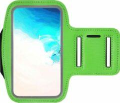 ADEL Sportarmband 5.5 Inch Microfiber Hoesje voor Samsung Galaxy A8 (2018) Plus - Groen