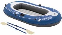 Blauwe Sevylor Europe Sevylor - PVC opblaasboot - Caravelle KK55 Kit - 1-Persoons - Blauw