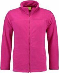 Roze L&S Fuchsia fleece vest met rits voor dames L (40)