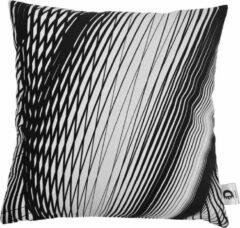 Decolenti | Sierkussenhoes | Modern Lines Kussen | Zwart | Wit | Wasbaar | Decoratie | 45cm x 45cm