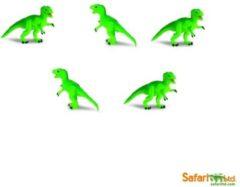 Safari LTD Good Luck Mini dino Figuren Tyrannosaurus rex 10 stuks (ongeveer 1-2 cm)