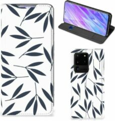 Blauwe Samsung Galaxy S20 Ultra Smart Cover Leaves Blue