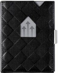Zwarte Exentri Leather Wallet RFID black chess Dames portemonnee