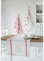 Tischläufer Home miaVILLA weiß/rot
