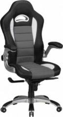Grijze Amstyle Racing Bureaustoel - Gamestoel - Ergonomische Bureaustoel - Bureaustoelen Voor Volwassenen