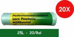 Merkloos / Sans marque PEDAALEMMERZAKJES 25 L GROEN/GEEL 20/ROL X 20 (400 STUKS)