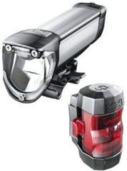 Zilveren BUSCH & MÜLLER Busch & Müller - IXON Core/IXXI - Fietskoplamp - LED - Accu/Batterij - Zwart
