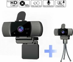 Douxe FA-1 Full HD Auto Focus Webcam - Webcam met Full HD, Ingebouwde Microfoon, Webcam Cover en Auto Focus - Zwart