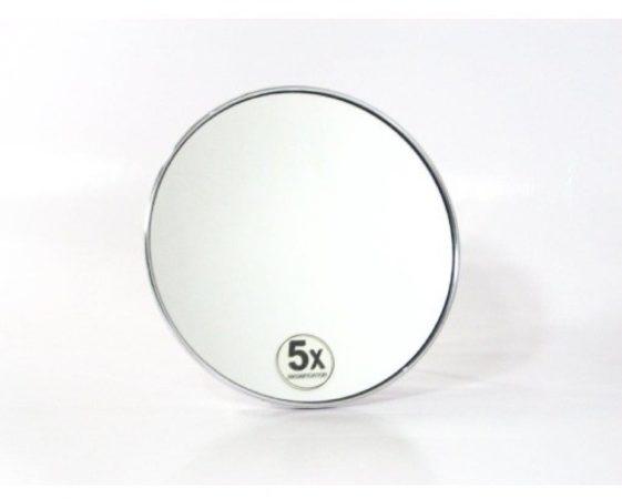 Afbeelding van Douche Concurrent Cosmeticaspiegel Rond Woodynox 5x Vergrotend met Zuignap 15.5cm