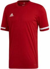 Rode T-shirt Korte Mouw adidas TEAM19 SS Jersey