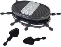 2 IN 1 Raclette mit heißem Stein TKG RAC 1003 CS Kalorik SCHWARZ