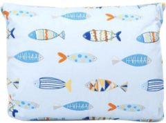 Balonsi - voedingskussen - Borstvoeding - Comfort - Babyshower - Blauw met vissenpatroon