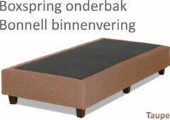 Boxspring.nl - Uw Bed Boxspringonderbak Bonnell binnenvering, 80 x 210, Taupe   Losse boxspring   Boxspring bedbodem   Boxspring onderstel   Bonnellboxspring   Springbox   Boxspring zonder matras