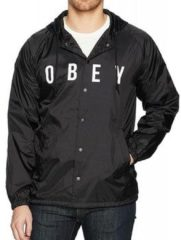 Obey Windjacken Anyway Herren Steppanorack Schwarz 221180293BLK