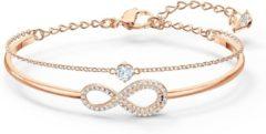 Goudkleurige Swarovski 5518871 Armband Bangle/ Ketting Swa infinity Rosé kleur