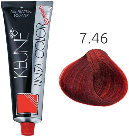 Afbeelding van Keune - Tinta Color - Red Infinity - 7.46 - 60 ml