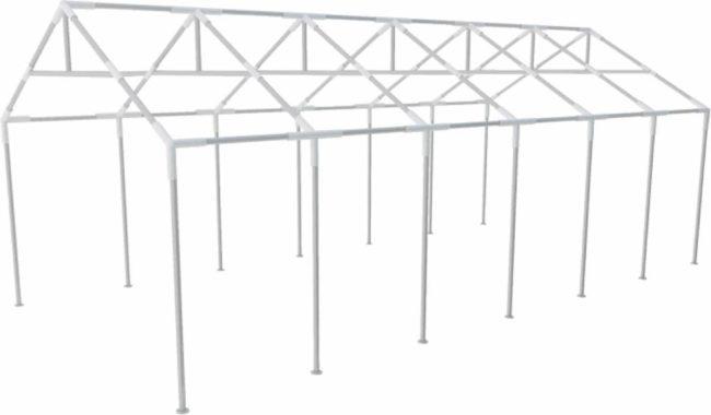 Afbeelding van Zilveren VidaXL - Partytent Stalen frame voor partytenten 12 x 6 m