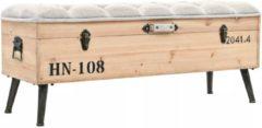 Grijze 5 days Opslagbank 120x40x50 cm massief hout en MDF