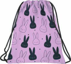 Roze BackUP Gymbag Konijntjes - 45 x 35 cm - Polyester