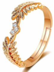 Fashion Jewelry Blaadjes ring | goud gekleurd